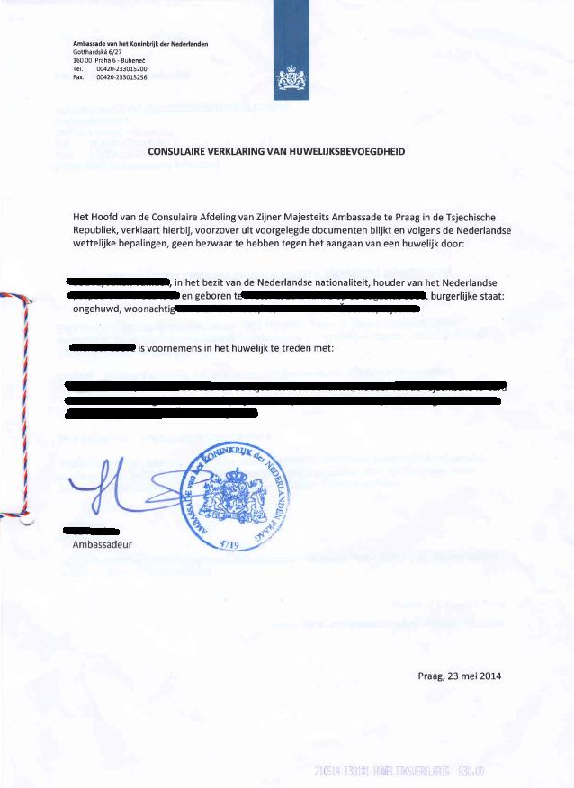 Soudní překlad vysvědčení o právní způsobilosti k uzavření manželství (NIZ)